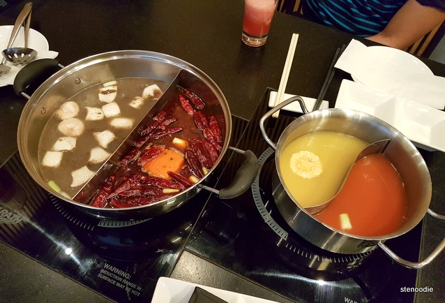 Split hot pots