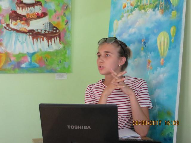 20 sierpnia 2017 Sofija Małyszok podczas prezentacji- Wisła w literaturze polskiej