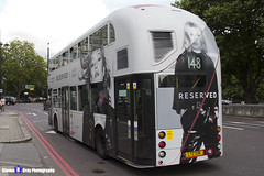 Wrightbus NRM NBFL - LTZ 1136 - LT136 - Reserved Kate Moss - Shephard's Bush 148 - RATP Group - London 2017 - Steven Gray - IMG_9106