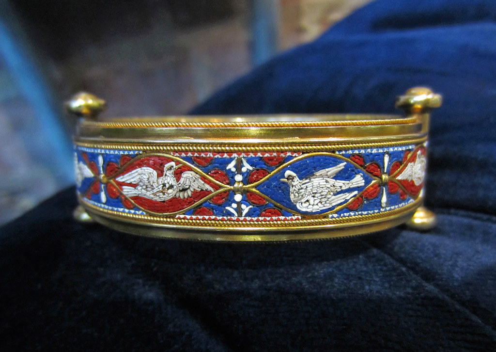 3 doyle doyle antique micromosaic bangle vatican workshop