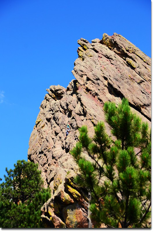 The First Flatiron as seen from the 2nd Flatiron access trail 2