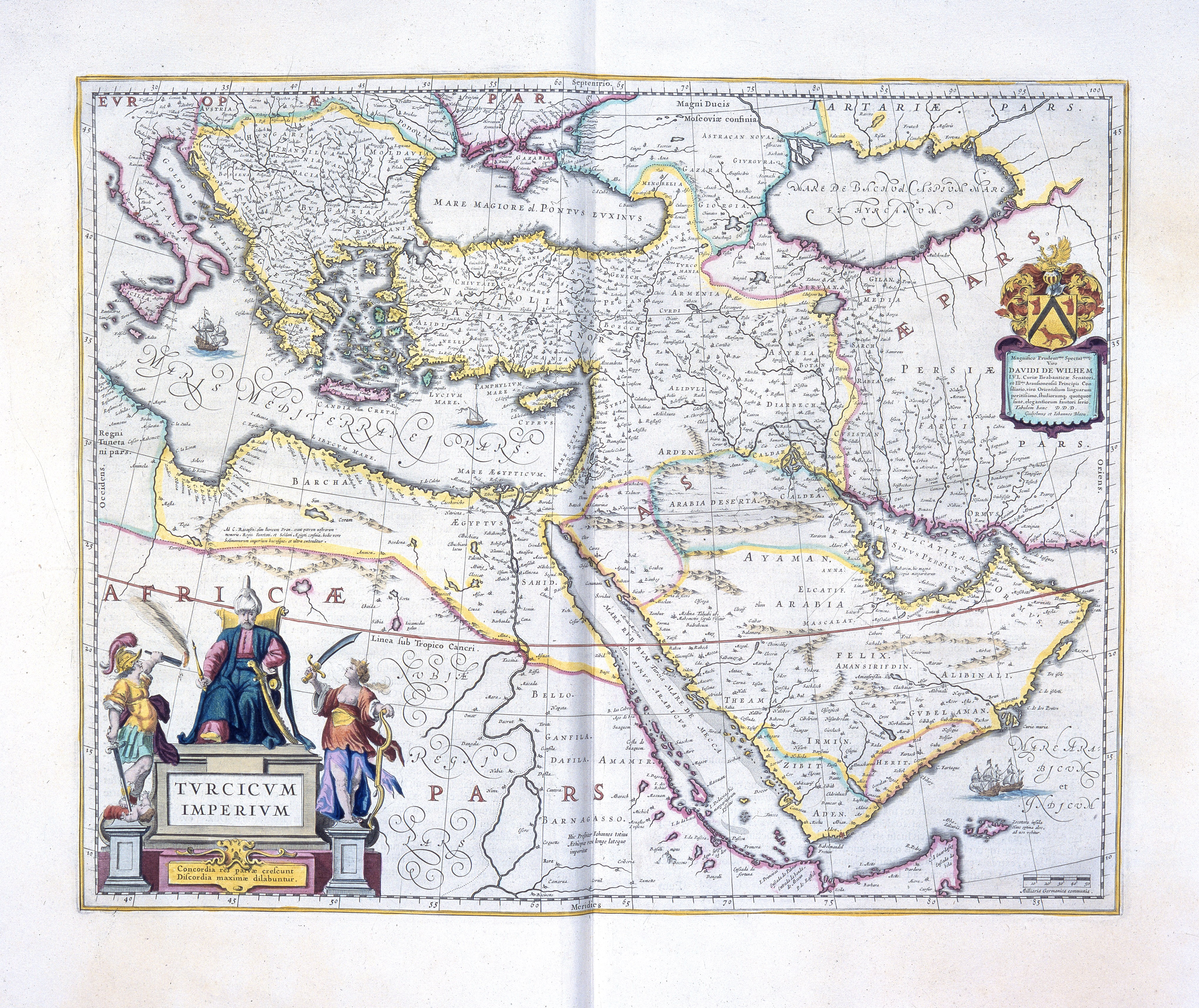 Map of the Ottoman Empire, 1654