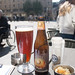 Beer in square outside St. Baaf's