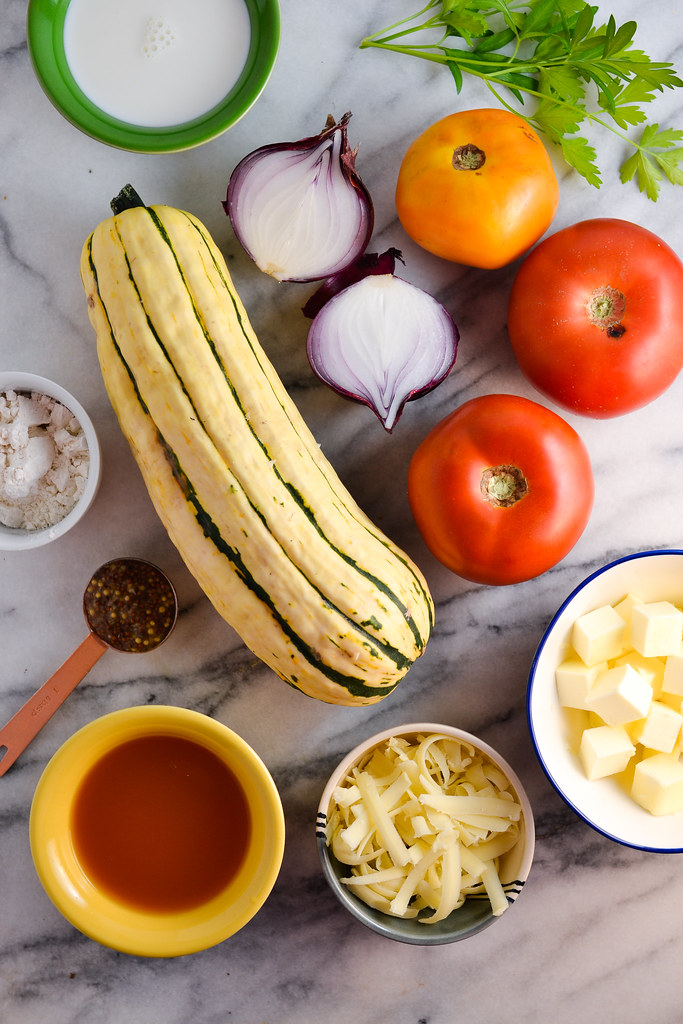 Delicata Squash and Tomato Gratin | Things I Made Today