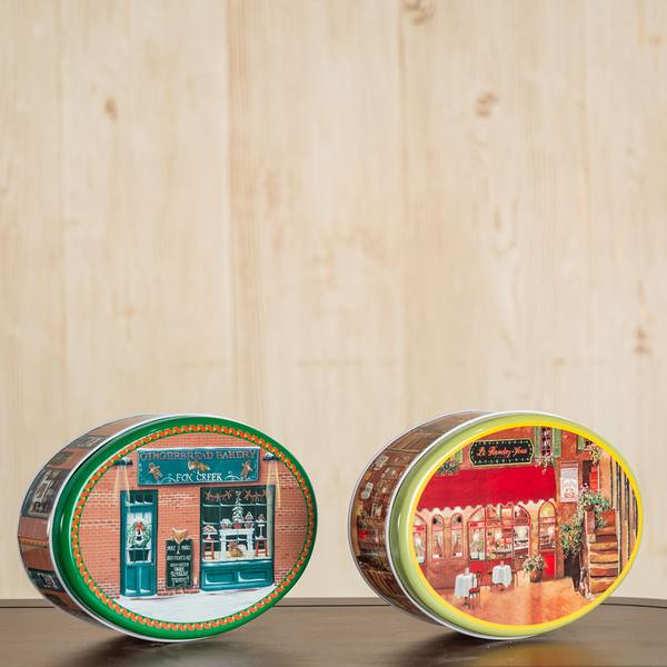 Oval cookie containers