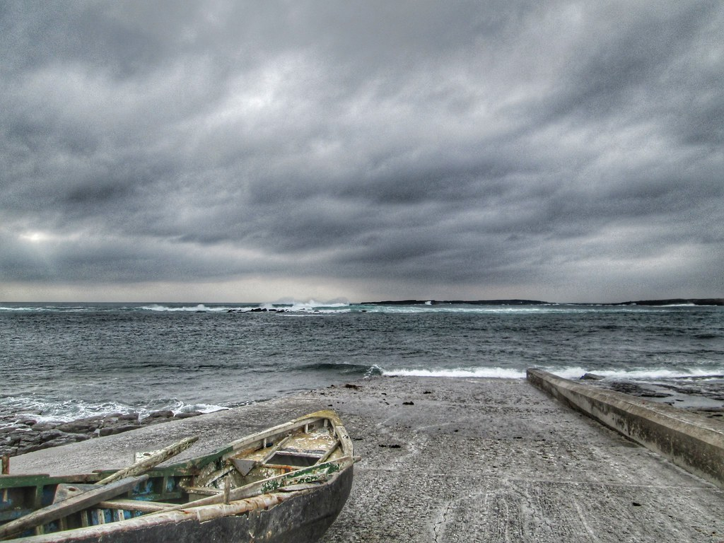 Aran Islands Inis Mor Fishing boat Atlantic