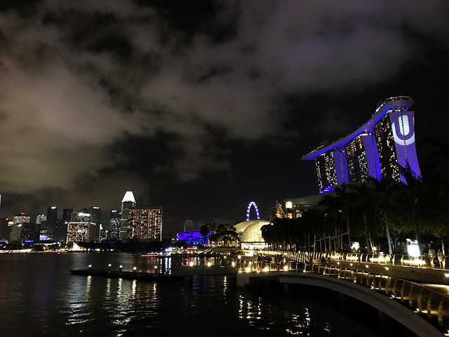 Nighttime at Marina Bay