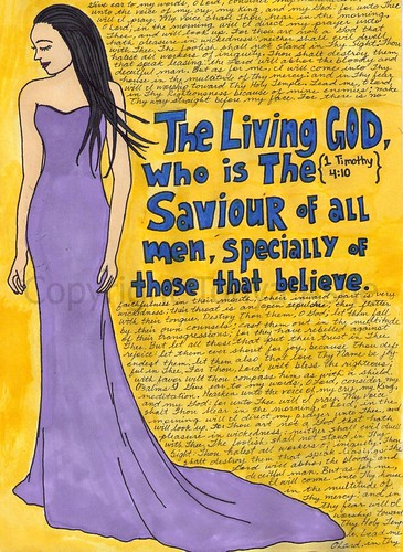 The Living God Art Journal Page Watermarked