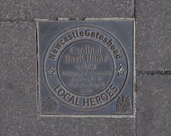 Photo of Basil Hume bronze plaque