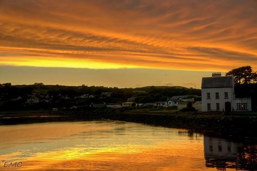 eire ireland irlandi irlande ulster donegal seascape waterscape shoreline coastal coastalireland coastalview bythesea sunset sky clouds sea nikon photomatix inishowen moville d5300 thewildatlanticway
