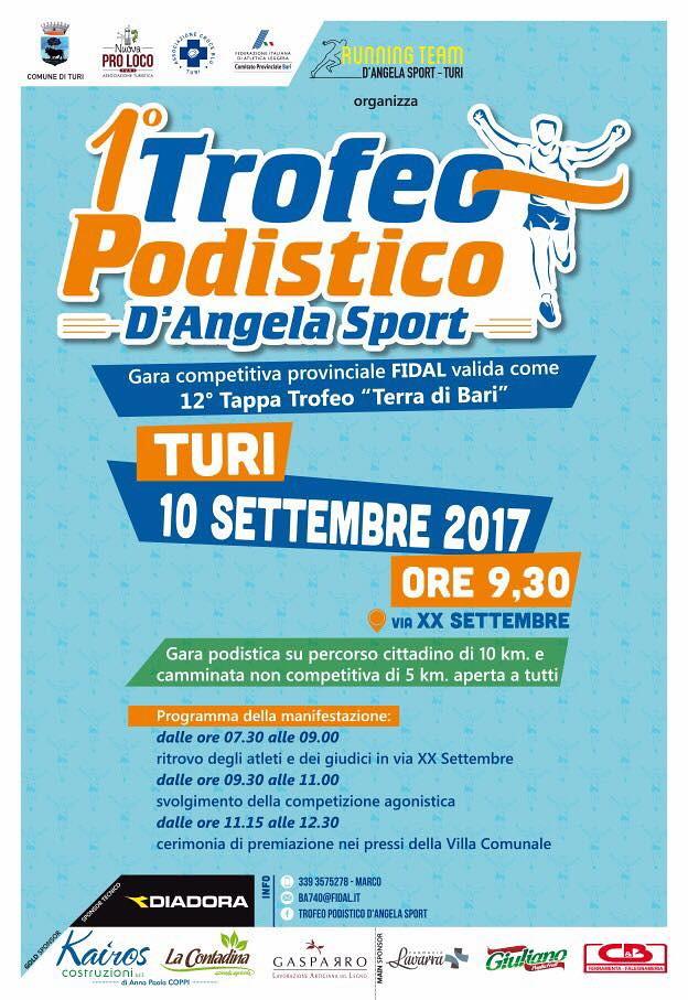 locandina TROFEO PODISTICO D'ANGELA SPORT 2017