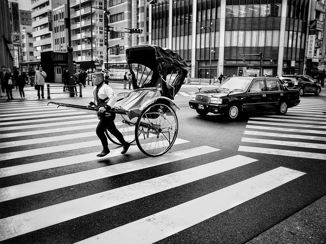 Old and new transportation | Japan