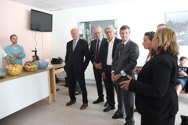 Visite du lycée des métiers de l'industrie et de l'optique Jacques Brel à Lormont