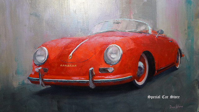 1954 Porsche 356 Dean Adams Art Collection at AFAS Exhibit - Award Night