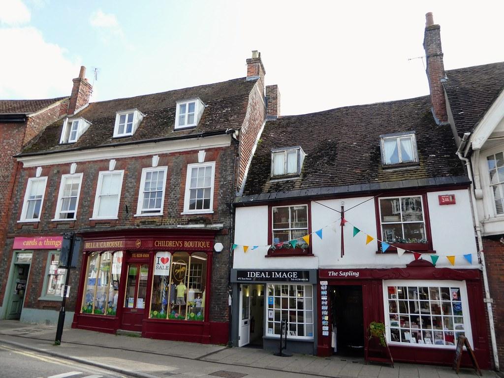 Quaint shops in Blandford Forum