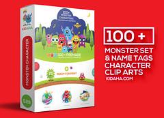 Monster Kidaha Clip art collection for kids