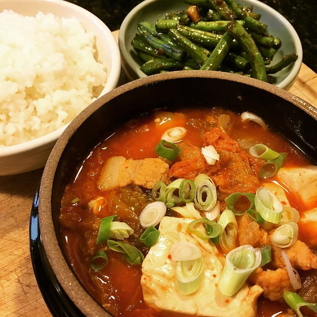 Dinner #kimchijjigae 🍲
