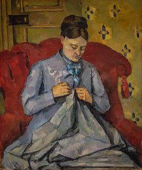 Paul Cézanne - Portrait of Artist's Wife at Nationalmuseum Stockholm Sweden