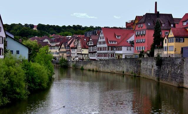 GERMANY, Schwäbisch Hall /Hohenlohe, Kocherufer, 75439/8886