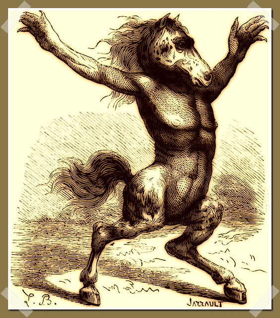 Orobas as depicted in Collin de Plancy's Dictionnaire Infernal, 1863 edition.