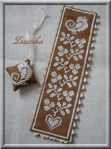 cross stitch, bird, bookmark, aida