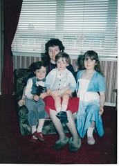 Mum, Me, Little Brother John-Paul & Big Sister Melanie.