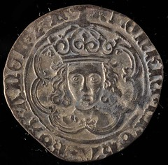 coin from Warkworth Church Medieval coin hoard