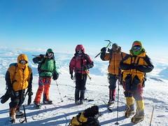 The amazing view over Alaska at the bottom of the DENALI Summit ridge
