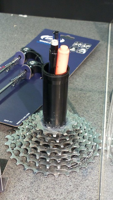 Bikehack: bicycle cassette pen holder