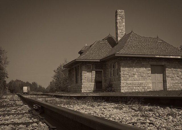Harrisville Depot - Looking North