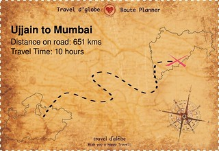Map from Ujjain to Mumbai