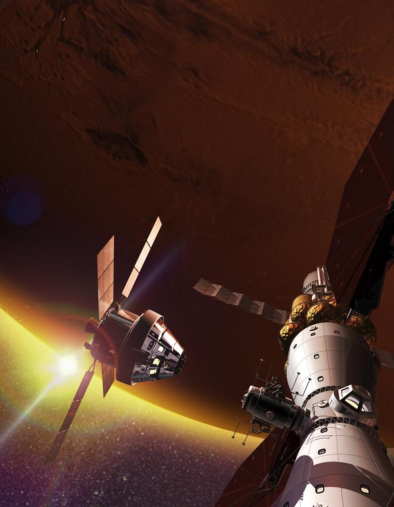 Orion at Mars Base Camp
