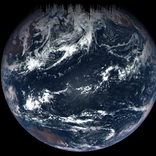 OSIRIS-REx Views the Earth During Flyby