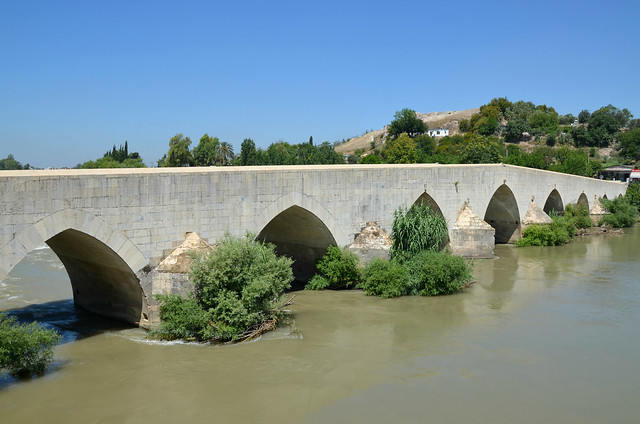 Roman bridge over the river Pyramus, built during the reign of Constantius II, it was restored by Justinian I in the 6th century and renovated in 743 and 840 AD, Mopsuestia, Turkey