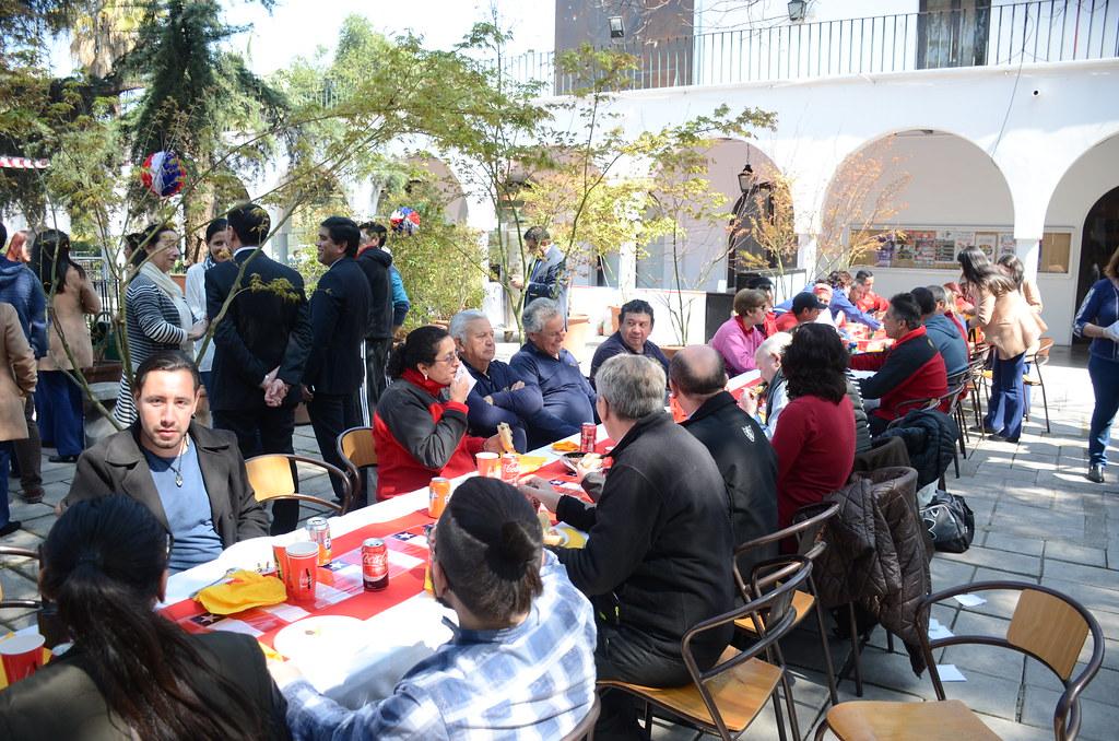 Festejo de Fiestas Patrias Funcionarios de Estadio Español 2017