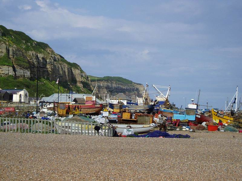 Fishing Fleet on Beach