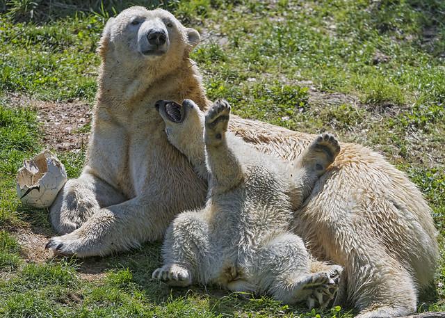 Having fun with mom!