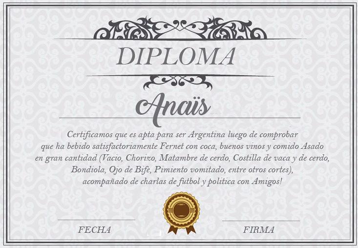 Cordoba - Diploma - Anais