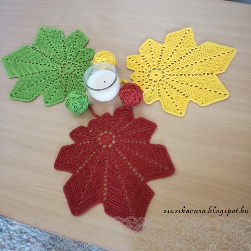 crochet, leaves, fall, autumn, colors, freepattern
