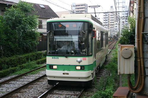 Toei 8500 series in Kōshinzuka.Sta, Toshima, Tokyo, Japan /July 16, 2017