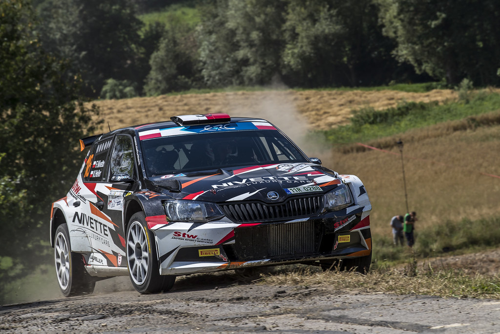18 NIVETTE Filip (POL) HELLER Kamil (POL) Skoda Fabia R5 action during the 2017 European Rally Championship Rally Rzeszowski in Poland from August 4 to 6 - Photo Gregory Lenormand / DPPI