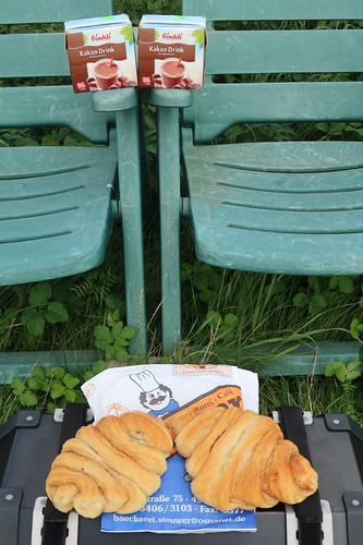 Franzbrötchen von der Bäckerei Konditorei Café Steuwer in Belm zum Kakao