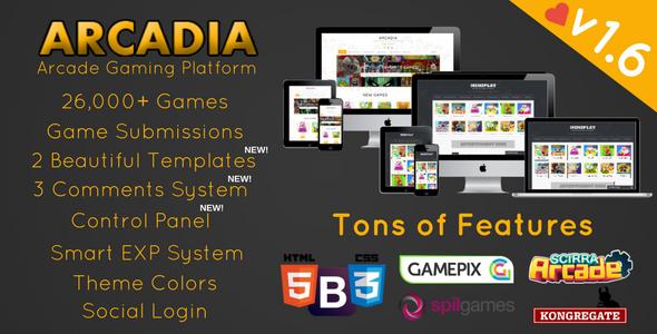 Arcadia v1.6.6 – Arcade Gaming Platform
