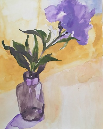 Lilac Peony Still Life, 2017, 12x16, mixed media painting on paper