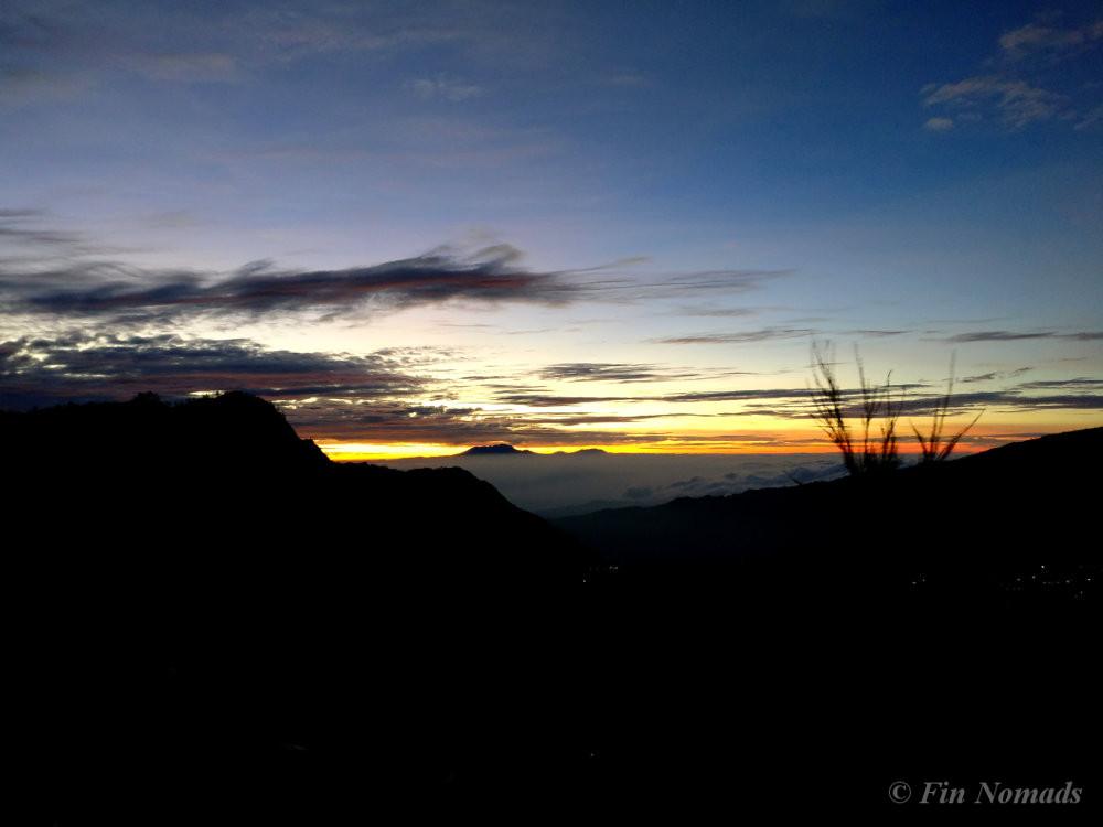 sun rising bromo
