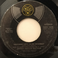 JOHNNY GUITAR WATSON:A REAL MOTHER FOR YA(LABEL SIDE-B)