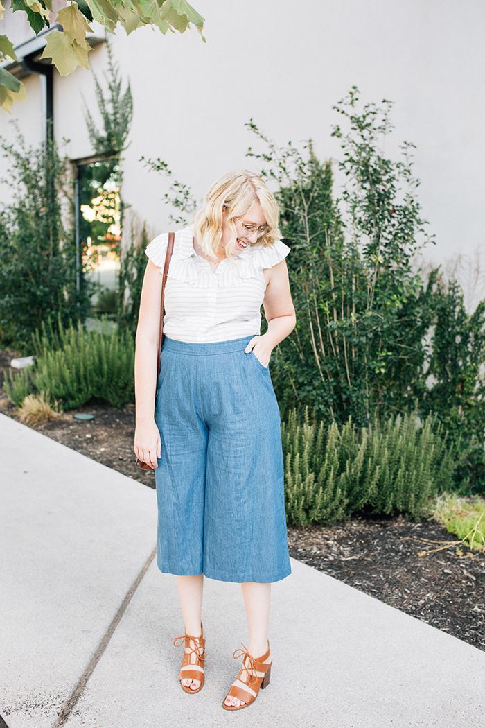 austin fashion blog writes like a girl modcloth chambray culottes12
