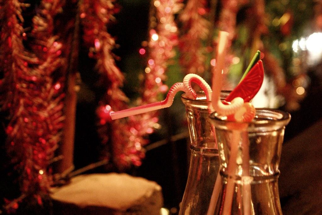Noel sur un toit terrasse à Hoi An agréable pour boire un verre.