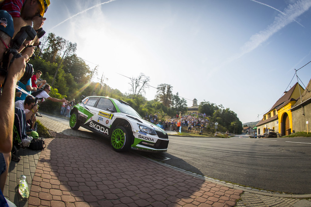 02 KOPECKY Jan (CZE) DRESLER Pavel  (CZE) Skoda Fabia R5 Action during the 2017 European Rally Championship ERC Barum rally,  from August 25 to 27, at Zlin, Czech Republic - Photo Gregory Lenormand / DPPI