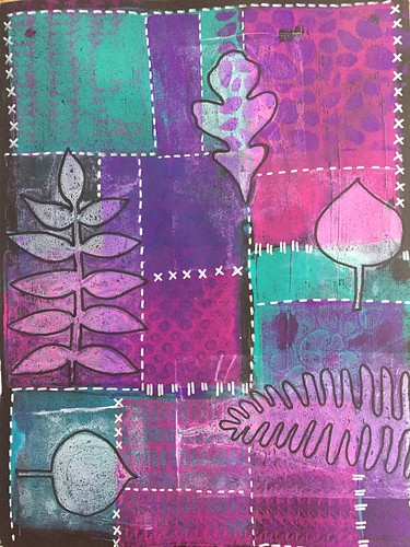 34b Patchwork - Gelli Prints